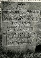 F003951 Grafsteen van Hester van Emden, echtgenote van Ezeghiël van Gelderen, geboren 15 oktober 1869/10 Tisjrie ...