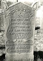 F003959 Grafsteen van Elisabeth Meijer-Speelman, geboren 13 november 1833/1 Kislew (5)594. - Op haar vertrouwt het hart ...