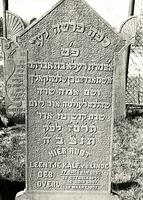 F003960 Grafsteen van Leentje Kalf-v.d. Linde, geboren 30 oktober 1844/17 Cheswan (5)605. - H(ier is) b(egraven) de ...