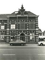 F003928 Rechterzijde van voorgevel van de voormalige sigarenfabriek Indiana aan de IJsselkade voor de restauratie.