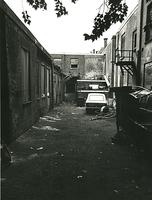 F003934 Achterzijde van de voormalige sigarenfabriek Indiana aan de IJsselkade voor de restauratie.