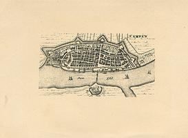 K000582 17e eeuwse plattegrond van Campen.