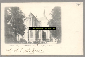 F001748 De Bovenkerk (ook wel St. Nicolaaskerk) is een grote, gotische kruisbasiliek. De kerk heeft een kerktoren en ...