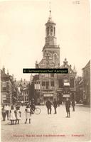 F001152 Nieuwe Markt en Nieuwe Toren, op de hoek (rechts) van de Gasthuisstraat het pand dat in 1901 is gebouwd als ...