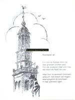 F005694 Optekening van Kamper Uien op rijm, de Nieuwe Toren . Tekening: Jan v.d. Starre, tekst Henk de Koning.