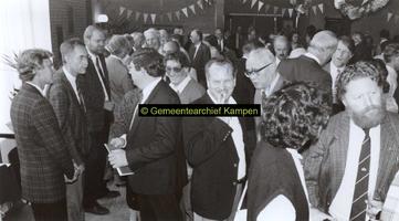 F005704 Receptie ter gelegenheid van het 40-jarig jubileum van Onze Werkplaats, thans I & M. 1. F. van der Werf, ...