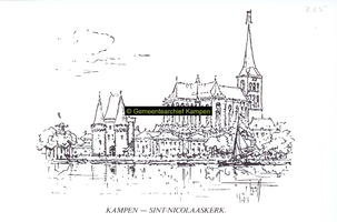 F005742 Bovenkerk en Koornmarktspoort.