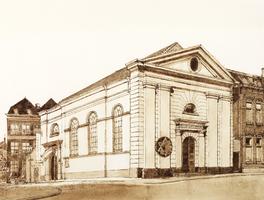 Horst 21 (voormalige) Synagoge, nu Gemeentelijke Expositieruimte, gelegen aan de IJsselkade. Gebouwd in 1847 naar een ...