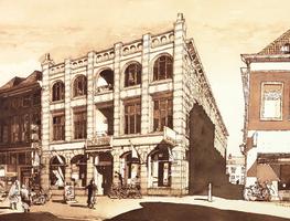 Horst 27 Industrieel erfgoed aan de Oudestraat, hoek Breedesteeg. In 1906 werd dit pand gebouwd als sigarenfabriek voor ...