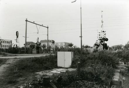 Overweg station Bunnik gezien vanaf Groeneweg zijde A12