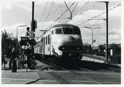 Vertrekkende trein (Hondenkop) vanaf station Bunnik richting Driebergen