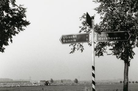 Achterdijk bewegwijzering nabij kruising Burgweg