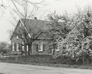 Langhuisboerderij met bloeiende appelboom
