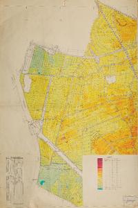 Ruilverkaveling Kromme Rijngebied West. Topografische kaart bijgewerkt naar de terreintoestand. Hoogtecijfers, ...