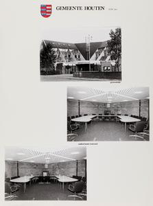 Serie foto's van 45 raadzalen en gemeentehuizen in de provincie Utrecht: gemeente Houten