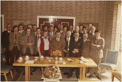 1. Bert Wijnen; 2. Henk Bakermans; 3. Johan van Hoof; 4. Jacques van Ooijen; 5. Paul van Beek; 6. Jacques Holanders; 7. Martin Koenen; 8. Tjeu van Lierop; 9. Paul Weemering; 10. Ans Stoffels; 11. Koos Willems; 12. Th. Wijnen; 13. 14. Anton van Agt; 15. Hub van Hout; 16. Kees van Poppel; 17. Gerard Sändker; 18. Frans Knaapen; 19. Mies Kunnen; 20. Gerrit van de Paal; 21. Jan Janssens; 22. Leo Verest; 23. Piet Scheepers; 24. Jo Schiffelers