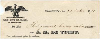 Oirschot Een briefhoofd van Vlemminx Erven & Co., stoomhoutzagerij en fabriek van Amerikaansche stoelen, tafels, banken en kerkstoelen