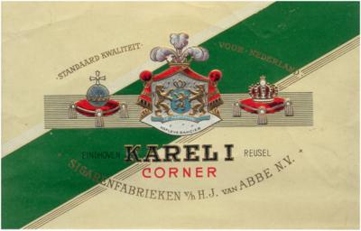 Binnenblad van sigarendoos van Karel I Corner