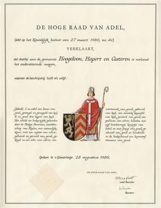 Wapendiploma van de gemeente Hoogeloon, Hapert en Casteren