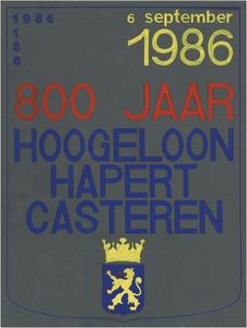 Ontwerp voor affiche feestelijkheden 800 jarig bestaan Hoogeloon, Hapert, Casteren