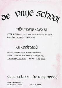 Informatie-avond en kijkochtend op vrije school De Regenboog