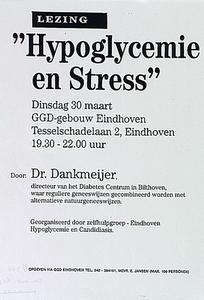 Lezing Hypoglysemie en Stress in GGD-gebouw