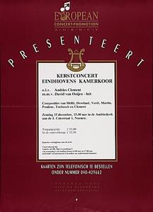 Kerstconcert van het Eindhovens Kamerkoor in de Andrieskerk
