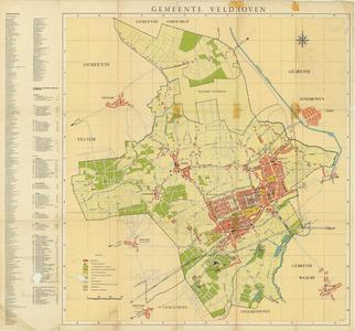 Plattegrond van de gemeente Veldhoven.