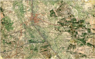 Topografische kaart Helmond nr. 671, waarop de omgeving van Stiphout, Mierlo en Helmond is aangegeven, verkend in 1898.