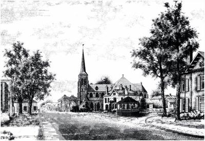 Serie van zes computertekeningen waarop de brug over de Tongelreep, Achtereind (Aalst), Eindhovenseweg (Aalst, 1926), Markt (Waalre, 1915), Markt met Willebrorduskerk (Waalre, 1910), het gemeentehuis (Waalre) en Loon (Waalre)