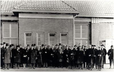 Instalatie van P.G.A.G. Panken als burgemeester van  Groot-Eersel , bestaande uit Eersel, Duizel en Steensel