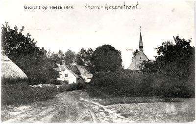 Algemeen overzicht oude situatie v/h Akkerstraat. Rechts de toren der Ned. Hervormde Kerk, St. Nicaciusstraat