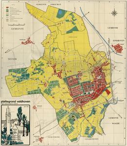 Komkaart van Veldhoven, Meerveldhoven, Oerle, Zandoerle en Zeelst.