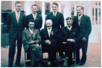 Personeel Brouwerij de Hoop: 1. Lon Aarts; 2. Graad van Engelen; 3. Brouwer Gerard Engelen; 4. Claassen 5. Kuipers 6. Duisters 7. Kuipers