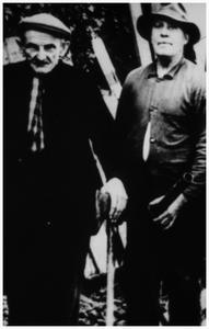 Houthakker: rechts: 1. Sjef Meusen (de Zager) links: 2. Dorus Slenders(Tivoli);