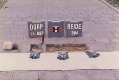 Serie van 6 foto's van de officiële ingebruikname van het fietspad langs de Kerkendijk van Someren Dorp naar Someren Heide.